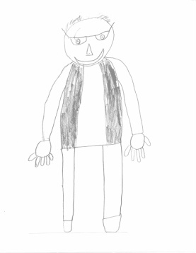 Student drawing of Dr. Kover